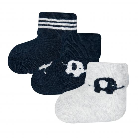 Ewers Baby Newborn Socken 3er-Pack (GOTS)