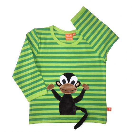 LipFish Kids Shirt Monkey green/lime