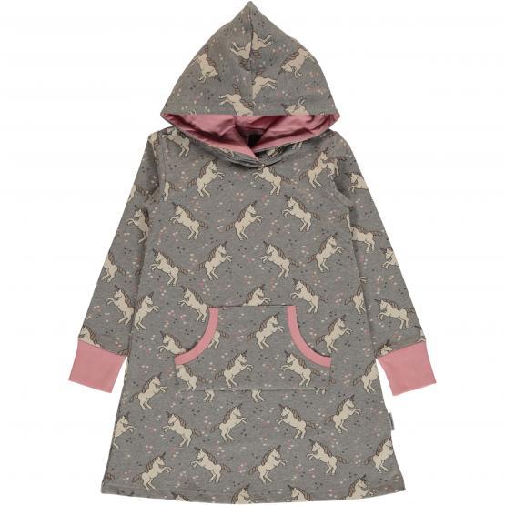 Maxomorra Dress Hoodie Sweat UNICORN DREAMS (GOTS)