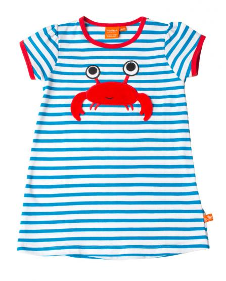 LipFish Kids Dress Crab blue/white